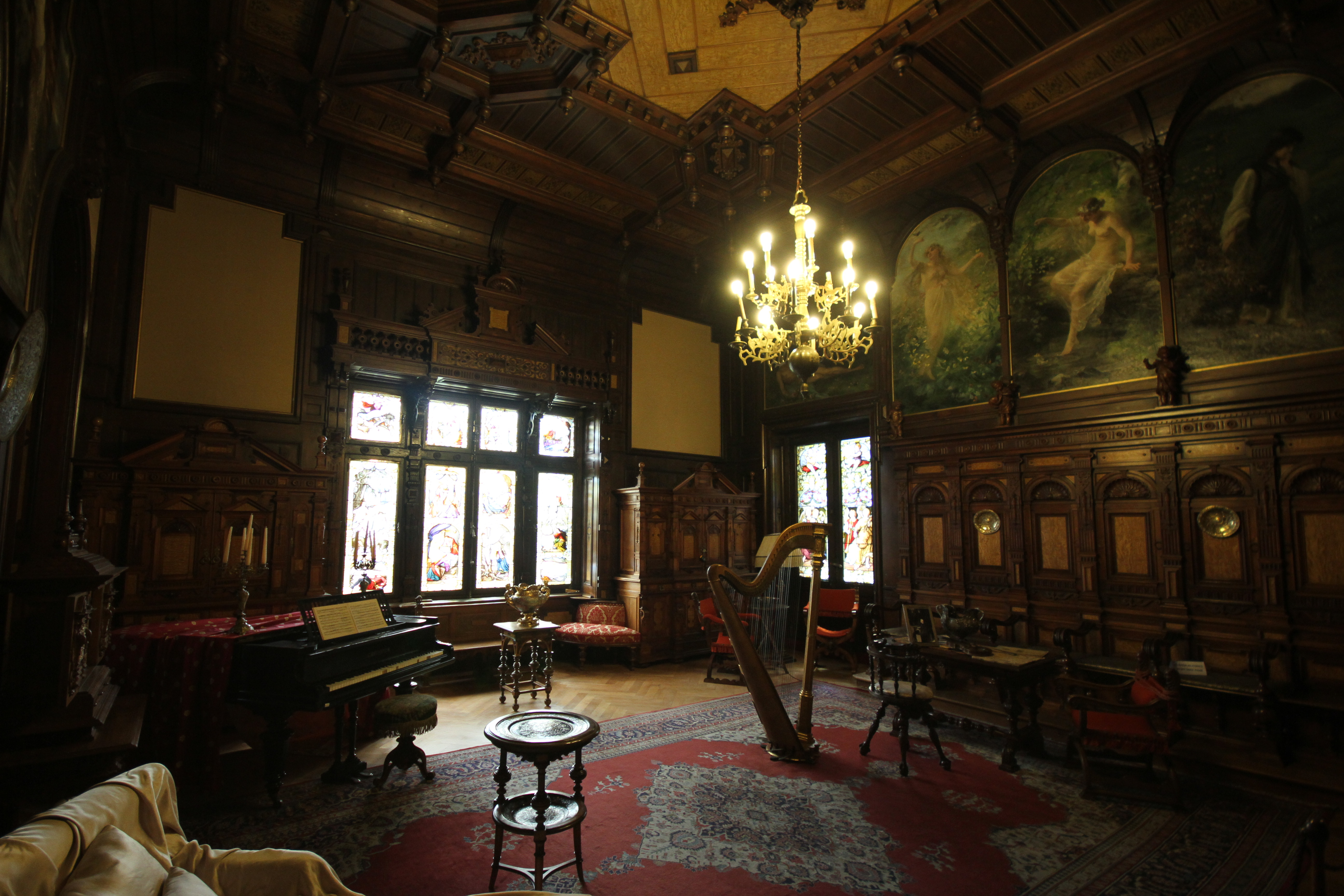 1000 images about peles castle on pinterest for Castle interior designs